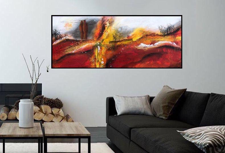 malerier-moderne-farverige-abstrakte-kunst-nr. 218a