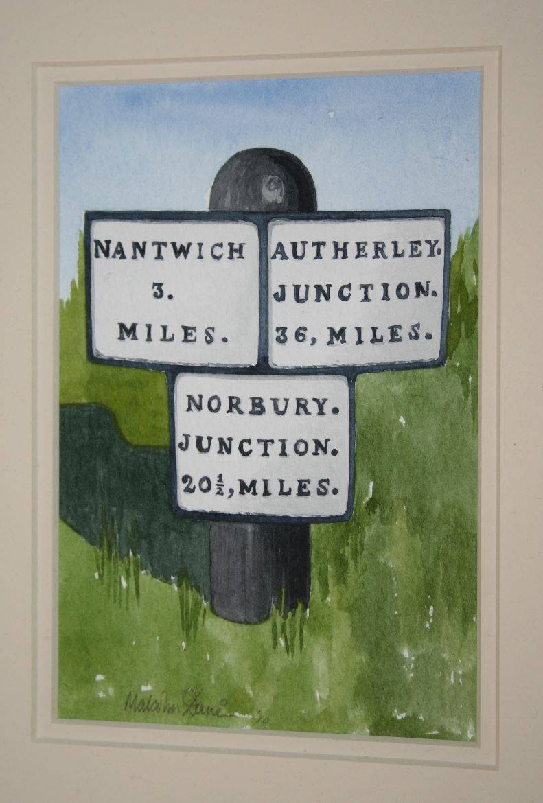"Milepost 1 : This picture when mounted measures 10"" x 8"" (25 x 20 cms) SOLD"