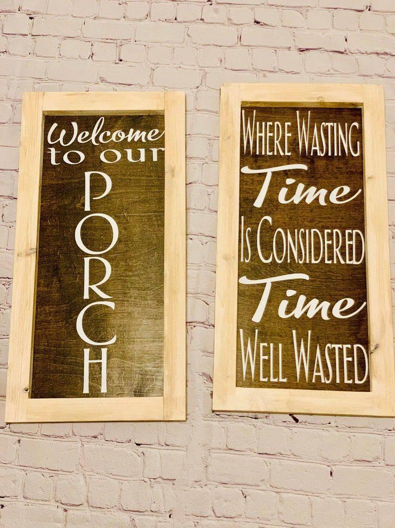Handmade Porch Signs