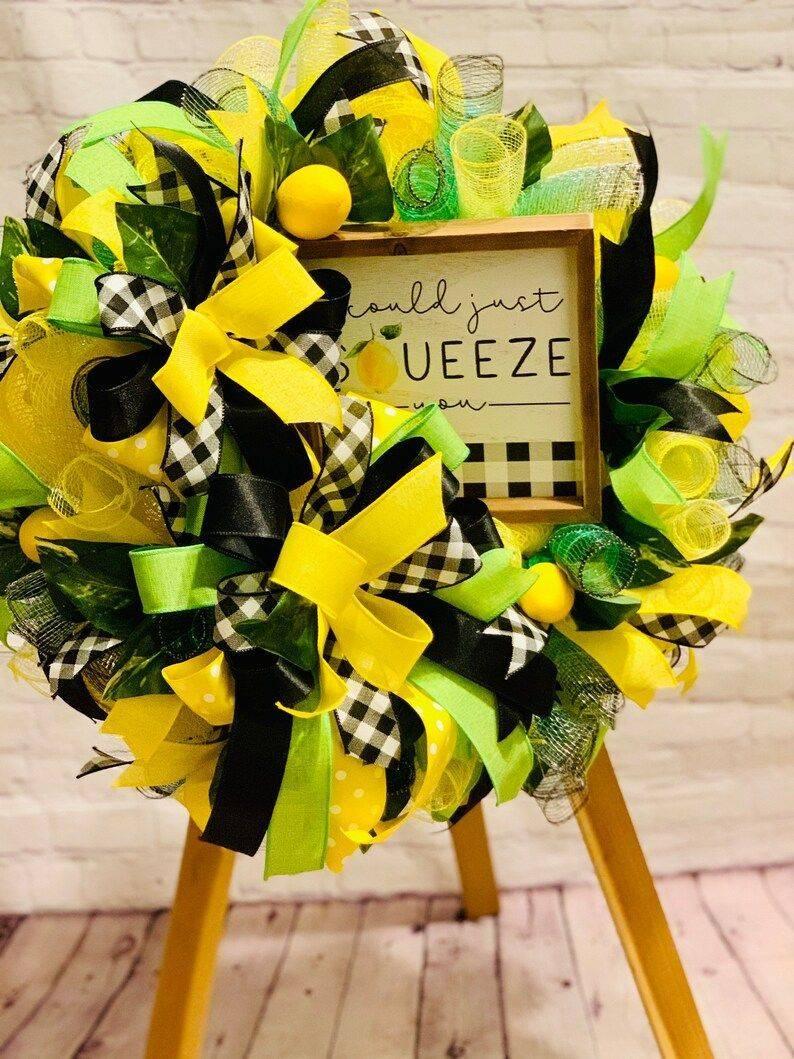 Lemon Squeeze Wreath