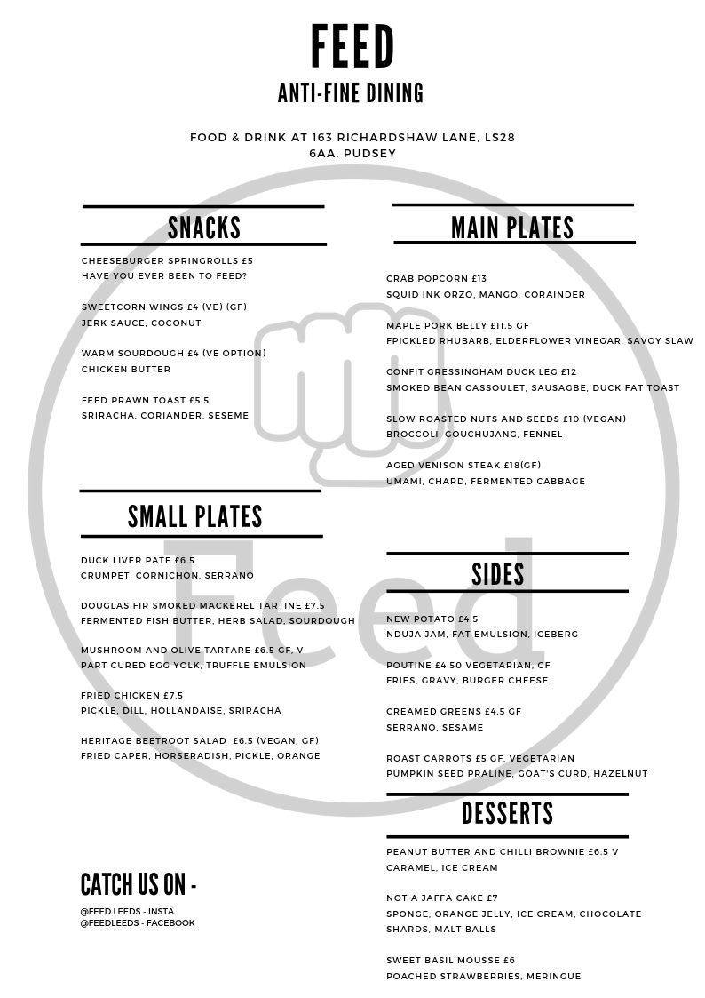 Small plate and large plate anti fine dining food