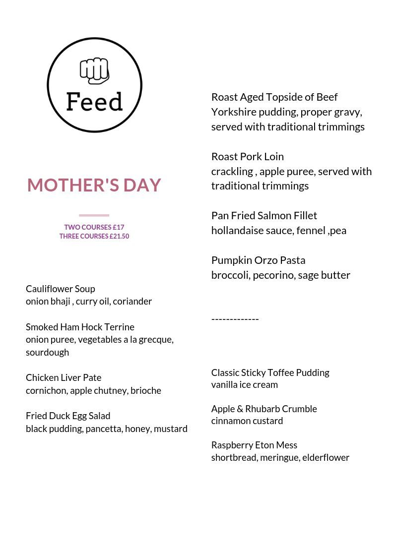 mothers day leeds restaurant best food pudsey yorkshire bradford occasion