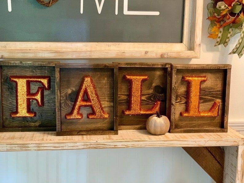 Handmade Fall Wooden Signs