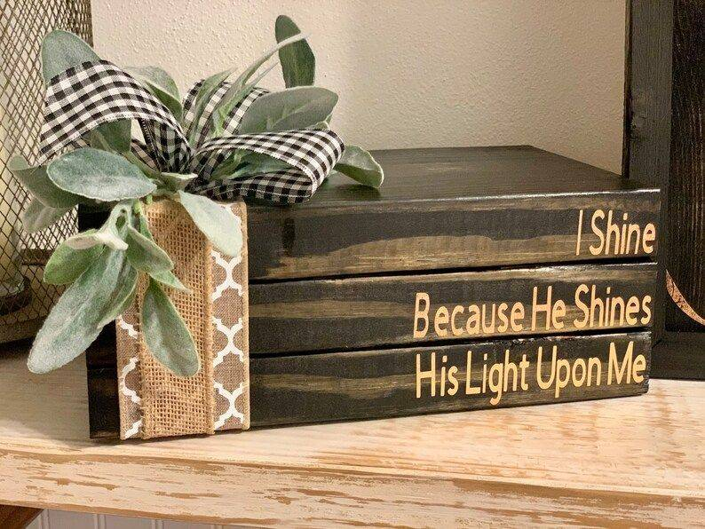 Handmnade Rustic Christian Books