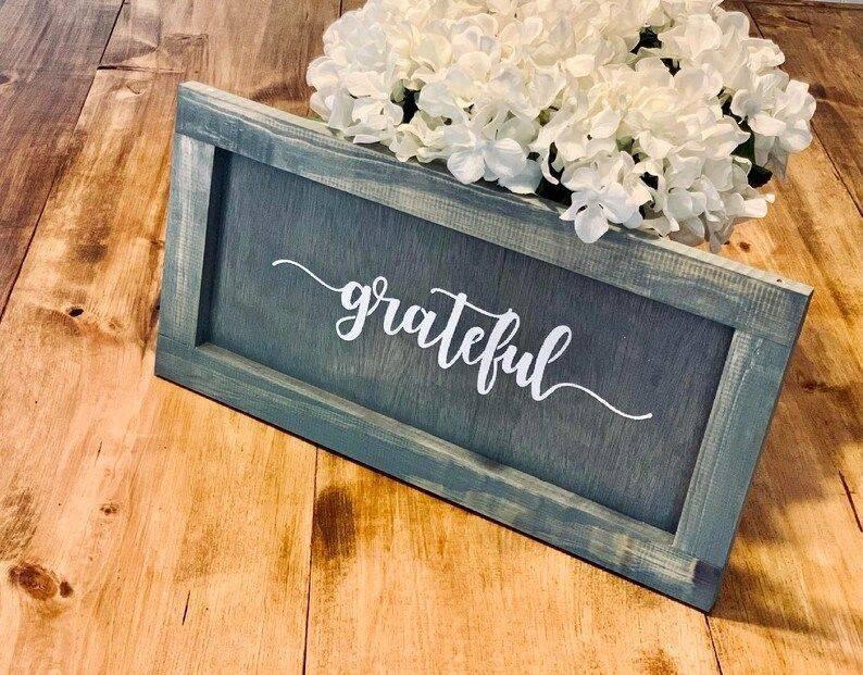 Handmade Grateful Sign