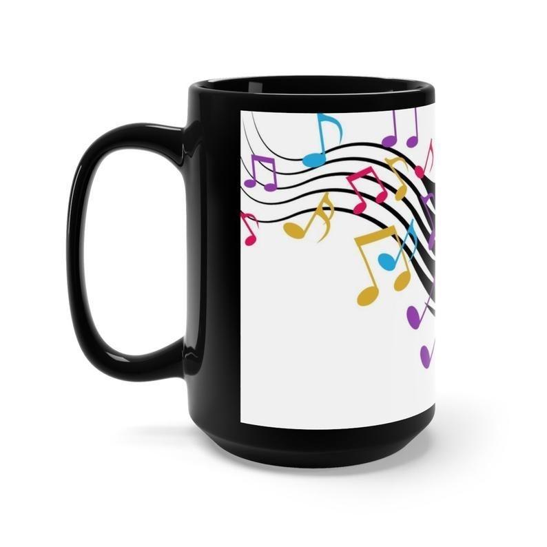 coffee mug, coffee cup, black