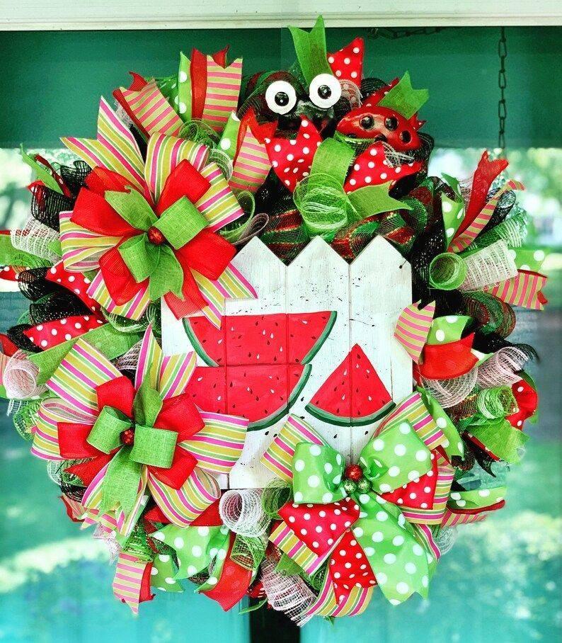 Summertime Watermelon Wreath
