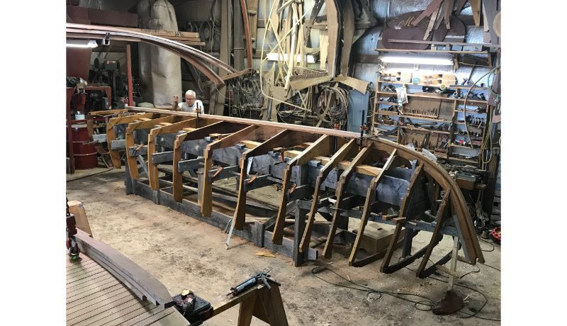 Construction of new Shepherd boat at Shepherd Boat Co.