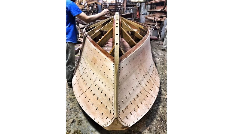 New construction of 22' Shepherd at Shepherd Boat Co.