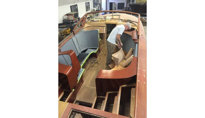 Shepherd Boat Company, 30' Shepherd interior build