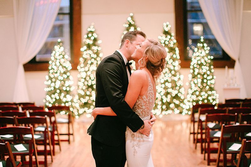 christmas wedding ceremony