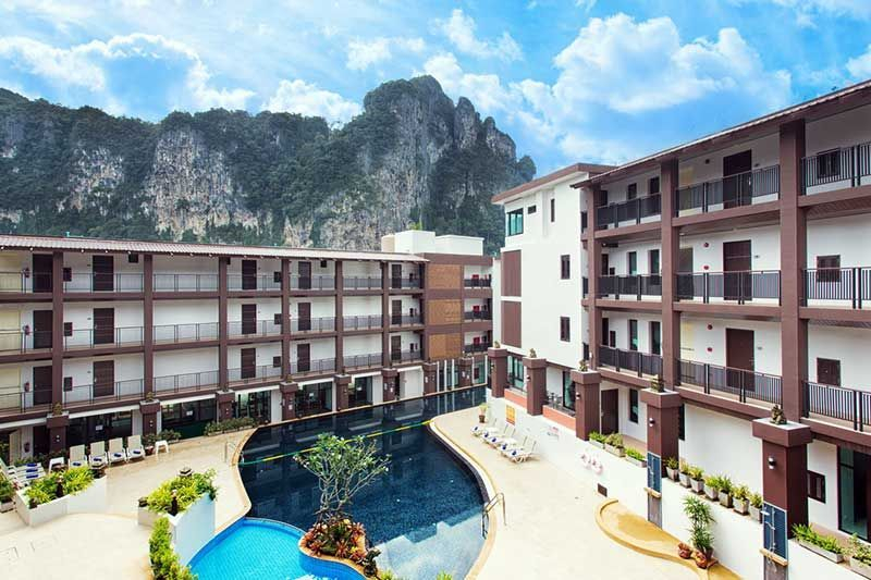 Limestone cliff view condo for sale in Ao Nang, krabi, thailand