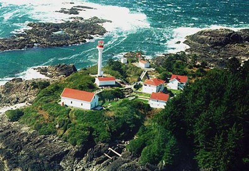 Lennard Island Light-house in Clayoquot Sound,.