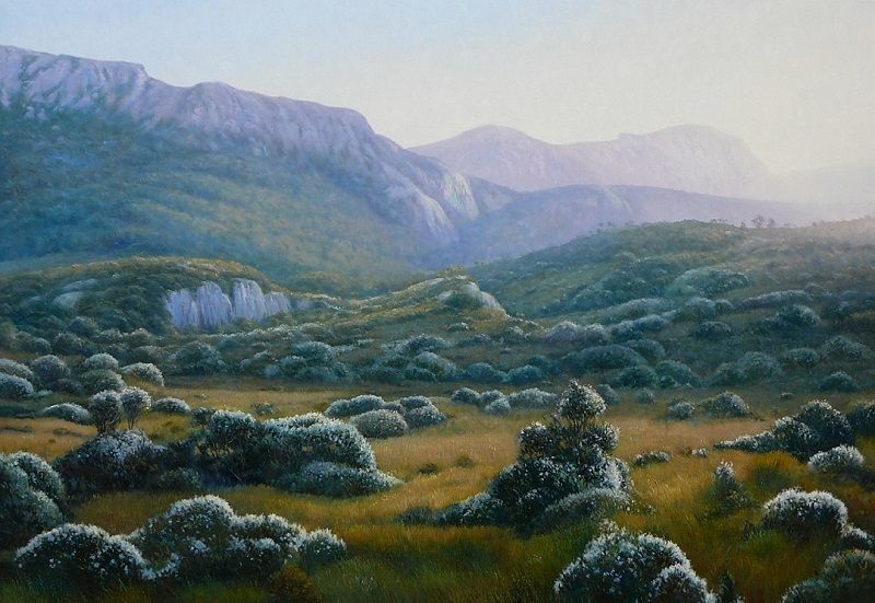 Hazy Afternoon Cradle Mountain Oil Painting