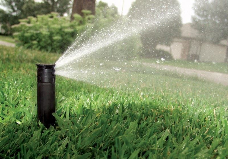 Rainbird U-Series Spray for Beds and Small Lawn Areas  U-Series Spray Nozzles Use 30% Less Water The patented U-Series nozzle is the first plastic nozzle with a second orifice for close-in watering and more uniform water distribution. Its unique patented design cuts watering times, saves water and money, and reduces waste.