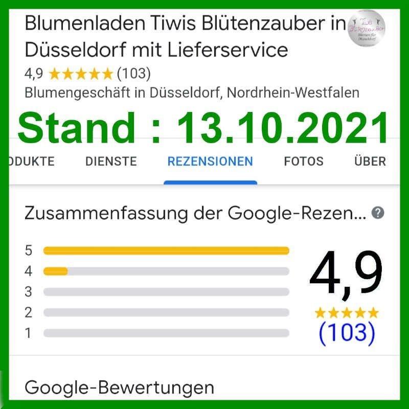 Google Bewertungen Rezensionen für Blumenladen  Tiwis Blütenzauber in Düsseldorf