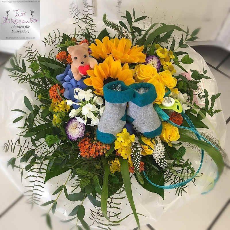 Blumenstrauß zur Geburt