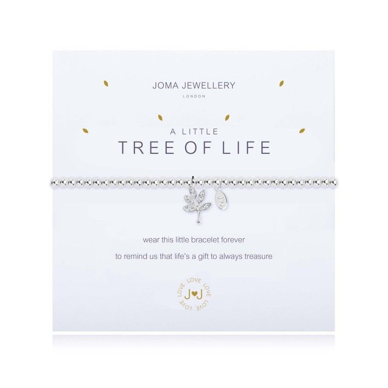 Joma Jewellery Bracelet charm silver tree gift