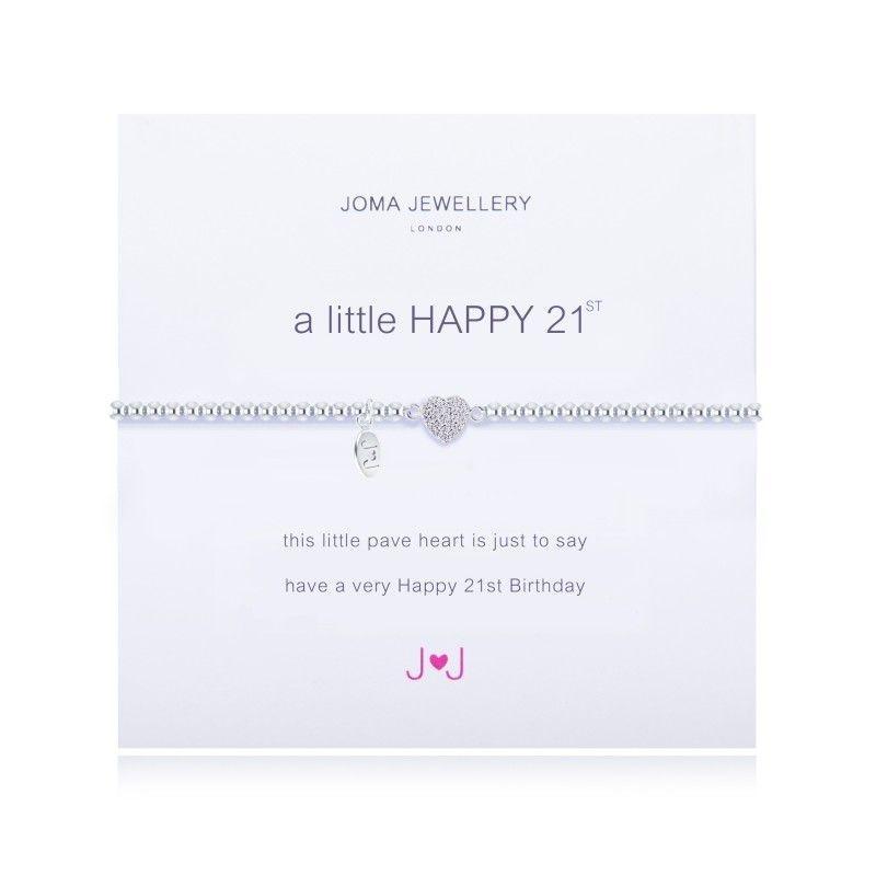 Joma Jewellery - 21st birthday gift heart sparkling cystal
