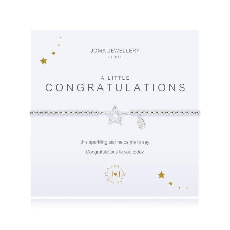 Joma Jewellery Congratulations gift star silver