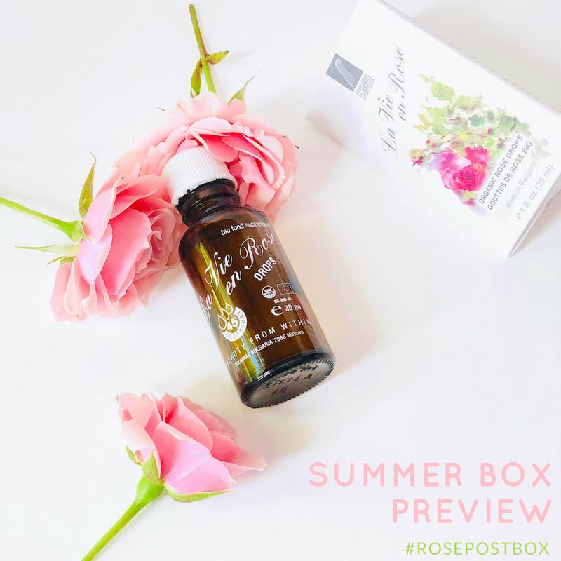 Rose Oil, Rose Drops, Rose Water, RosePost Summer Box, RosePost Box, Green Beauty Subscription, Rose Beauty Box, Green Beauty Box, Sahara Rose