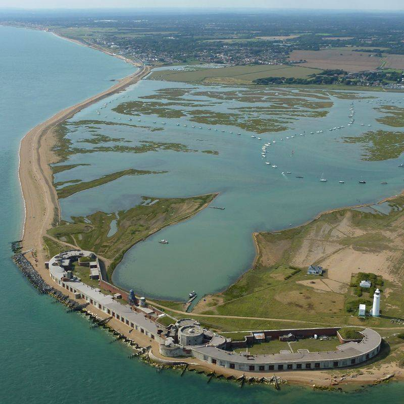 Hurst Castle and Keyhaven from the air