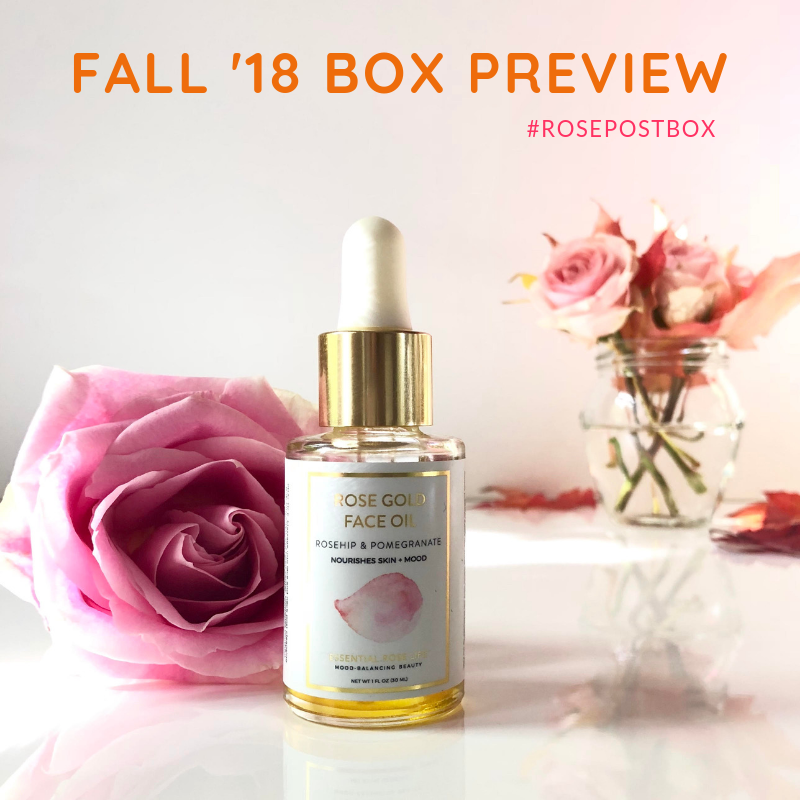 Rose Oil, Rose Water, RosePost Fall '18 Box, RosePost Box, Green Beauty Subscription, Rose Beauty Box, Green Beauty Box, Essential Rose Life