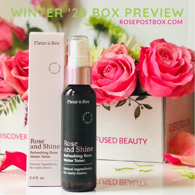 Fleur & Bee Rose & Shine Rose Water Toner, rose mist, rose water, clean rose beauty