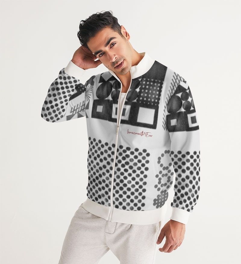 Passion Plaid Men's Track Jacket