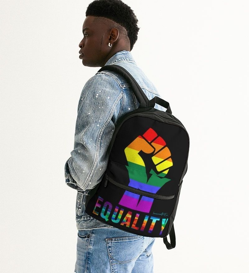 LGBTQ LOVE Small Canvas Backpack