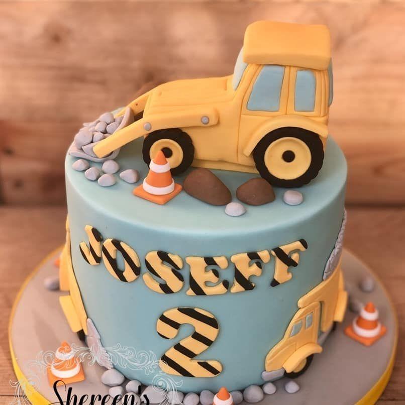 birthday cake digger truck