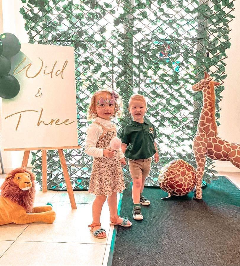 Wild & Three Birthday Sign Perth