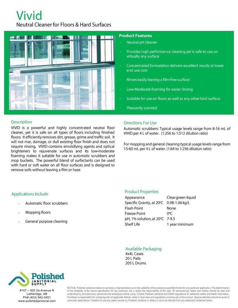 Technical Data Information Sheet Vivid