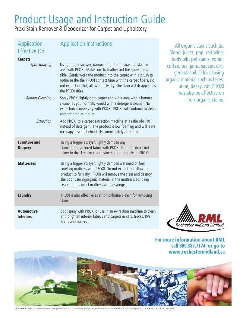 Technical Data Information Sheet Proxi