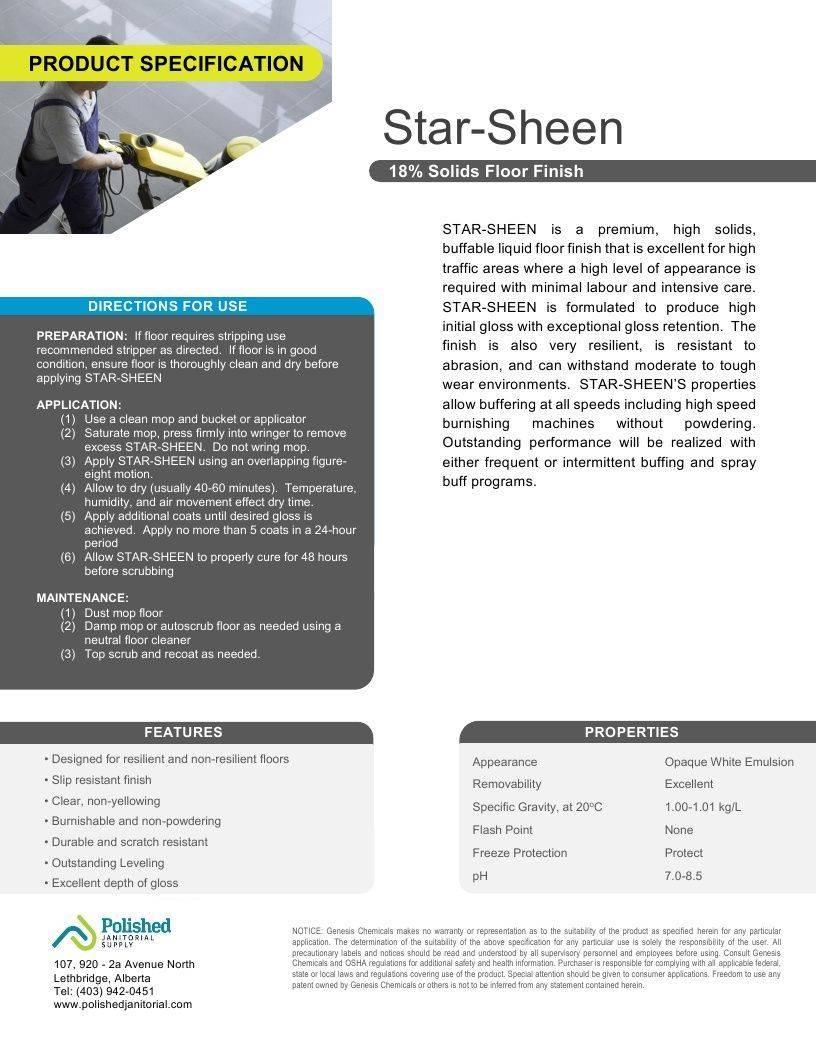 Technical Data Information Star Sheen