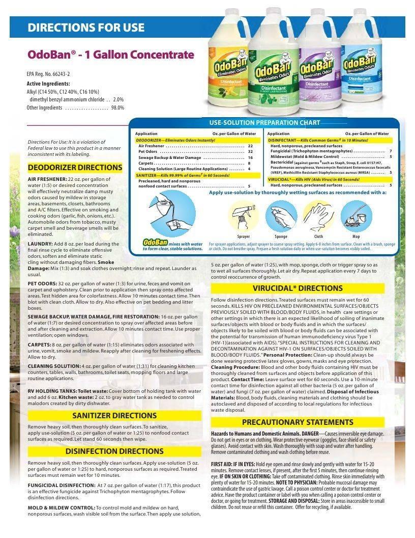 Technical Data Information Sheet OdoBan