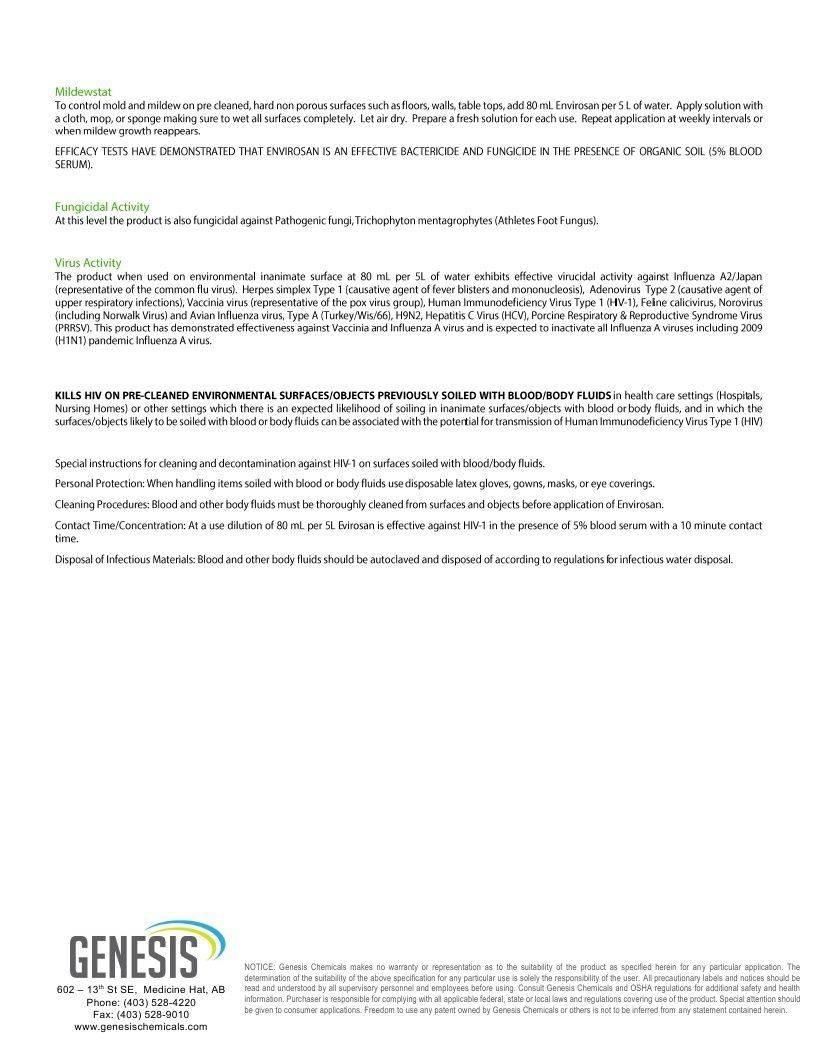 Technical Data Information Sheet Envirosan