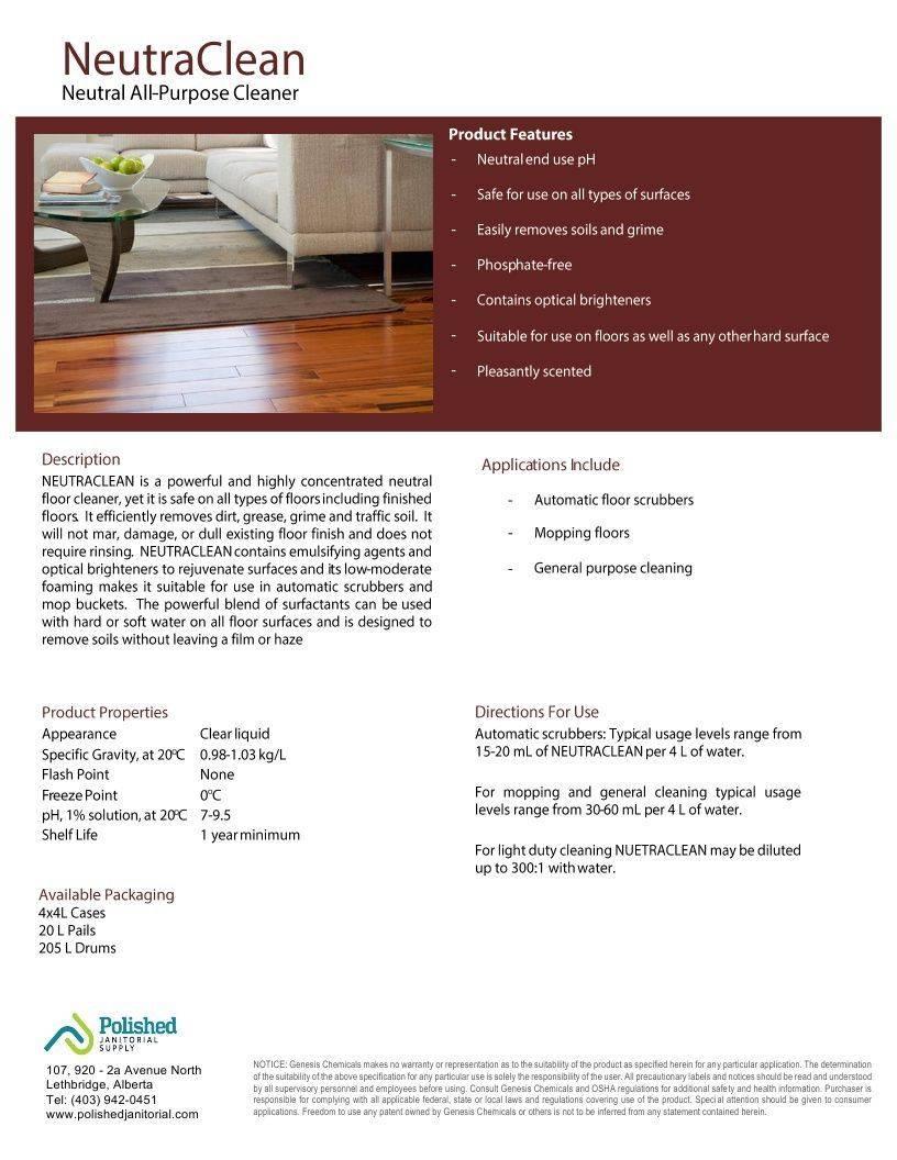 Technical Data Information Sheet Neutra Clean