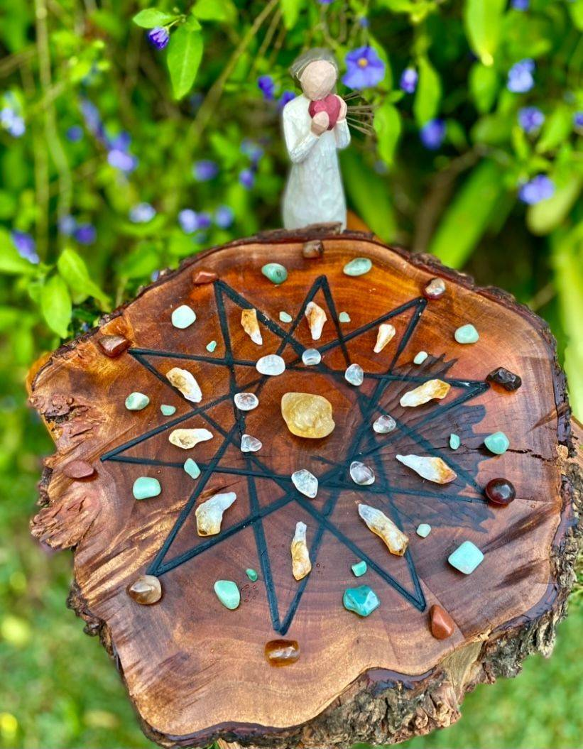 handmade authentic natural timber crystal healing grids wellness reiki