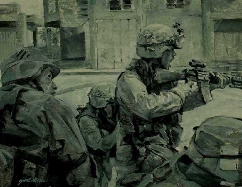 STREET FIGHT, An Najaf, Iraq, Operation Iraqi Freedom, Elzie Golden, 2003