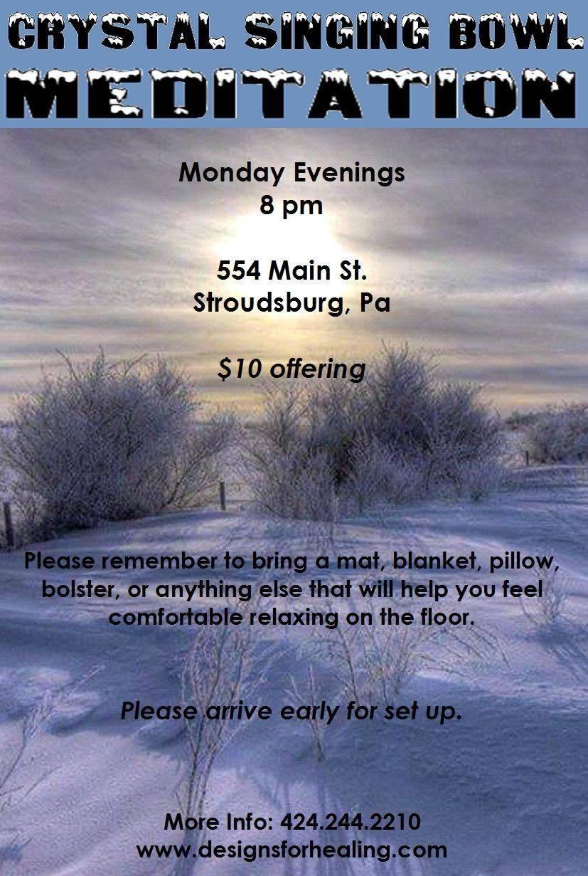 Winter Blues Crystal Singing Bowl Meditation