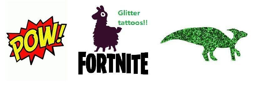boys glitter tattoo kits and stencils
