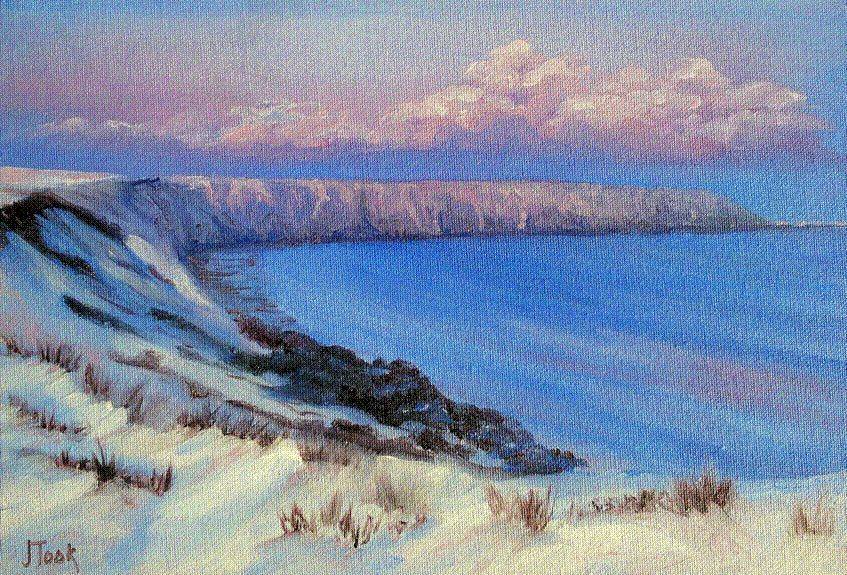 Jane Took Art Filey Painting Snow Brigg