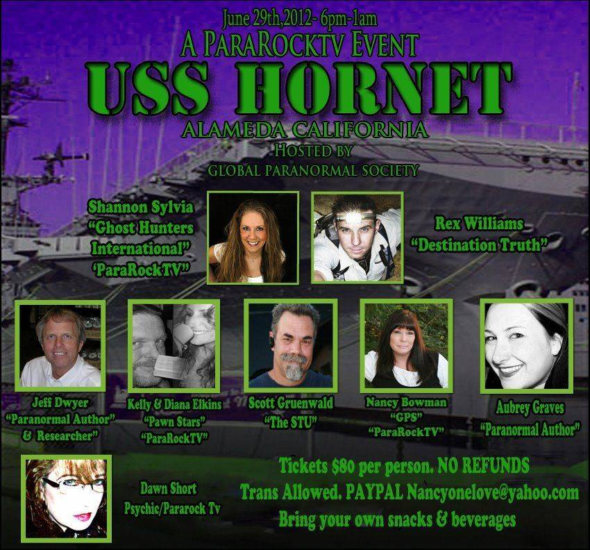 USS Hornet haunted event santa cruz events