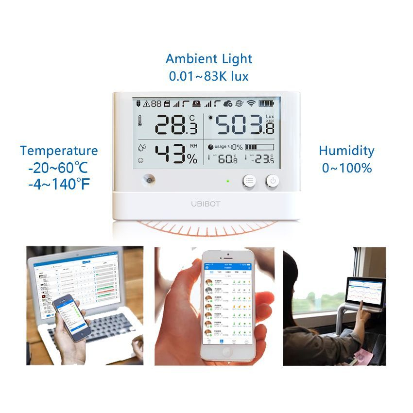 Ubibot WiFi Wireless Thermometer & Temperature Sensor
