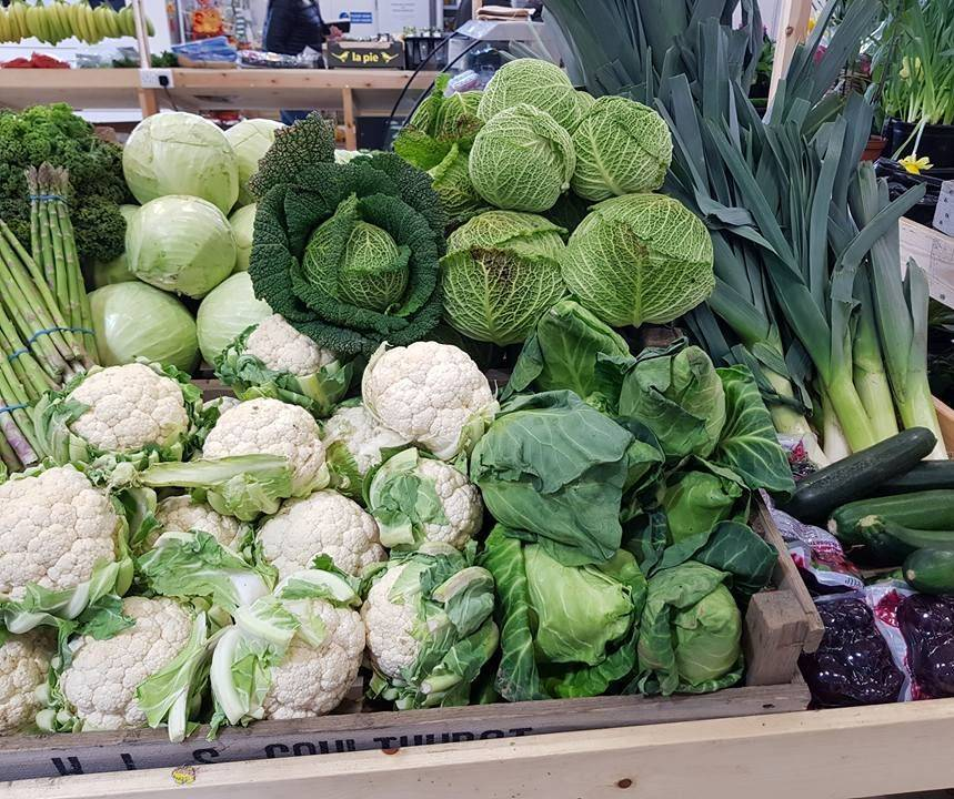 Cauliflowers, Cabbage and other various veg