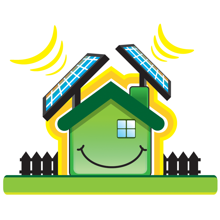 """A smiling """"happy home"""" with the solar panels, turning sunshine into hot water! This will be relected in your EPC rating."""