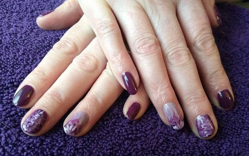 Gorgeous nails after attending my Gel Nails Course