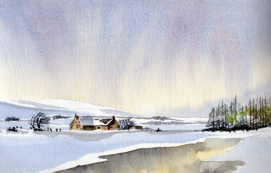 Winter Scene 2 (Watercolour) : SOLD