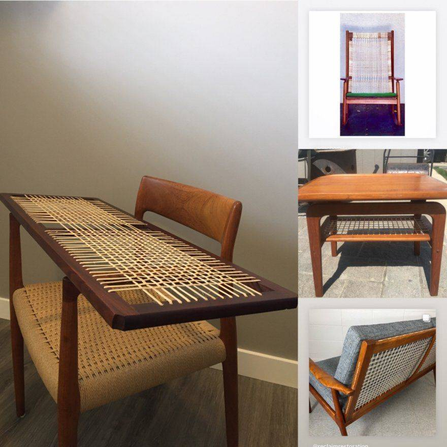 Examples of furniture woven with binding cane